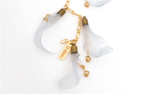 lillis necklace | brass, silicone, goldfilledsilver