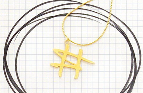 Doodle jewelry Collection | Number sign necklace