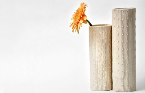 Porcelain Knitwear Collection | Vase | Flat Mod Cable