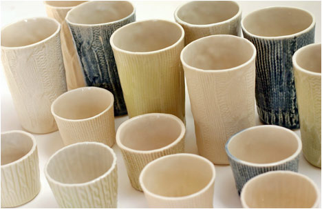 Porcelain Knitwear Collection | Slip-Cast Cups