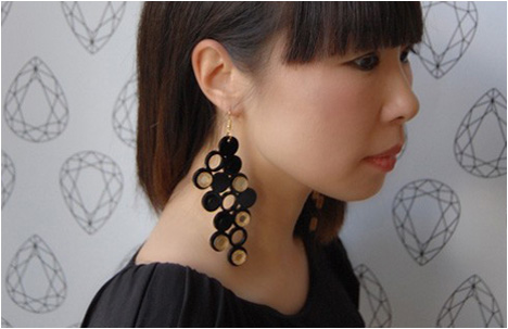 The Beaton Gold Mirror Earrings
