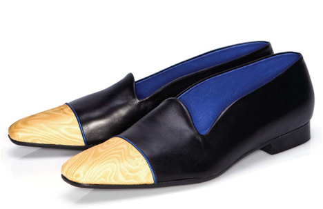 Spring/Summer 2010 | Golden Moiré Taffeta and Fine Black Calf Upper