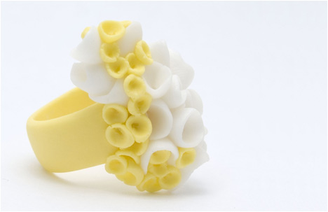 Aruba Yellow Porcelain Ring