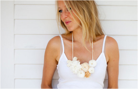 White and Ivory Flower Chain