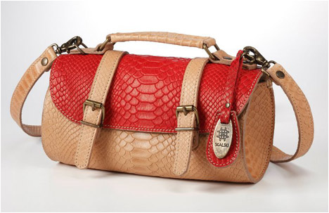 Chika Bag | Red.Natural Anaconda Print | Limited Edition