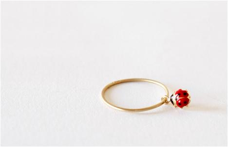 Golden Ladybug Ring