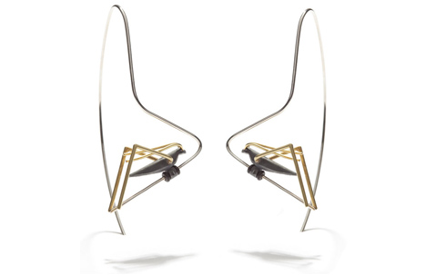 Grasshopper Long Earrings