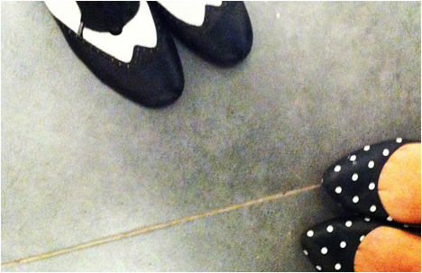 My spotty shoes and Noa Sharon's rad steps shoes